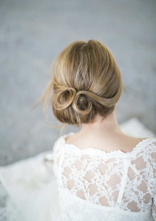 Back view of Wedding Updo