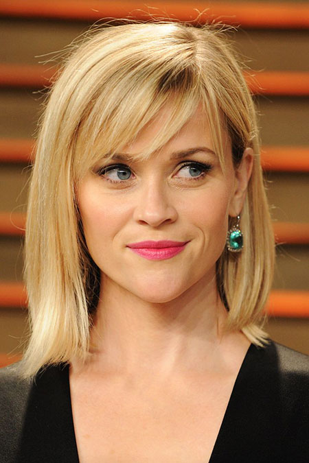Reese Witherspoon Side Bangs fegte Real