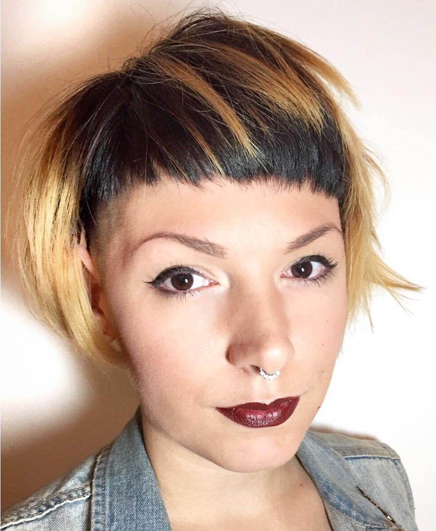 Bowl Haircut with Bangs