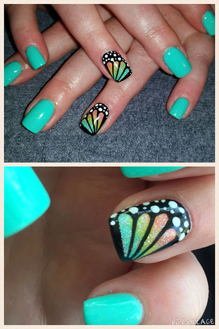 Nail Spring Butterfly Manicure