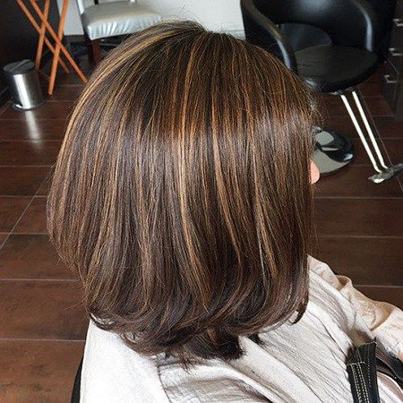 Brown, Straight Bob