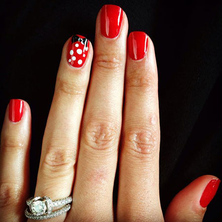 Walt Disney World Nageldesign, Maniküre Disney Mickey Gel