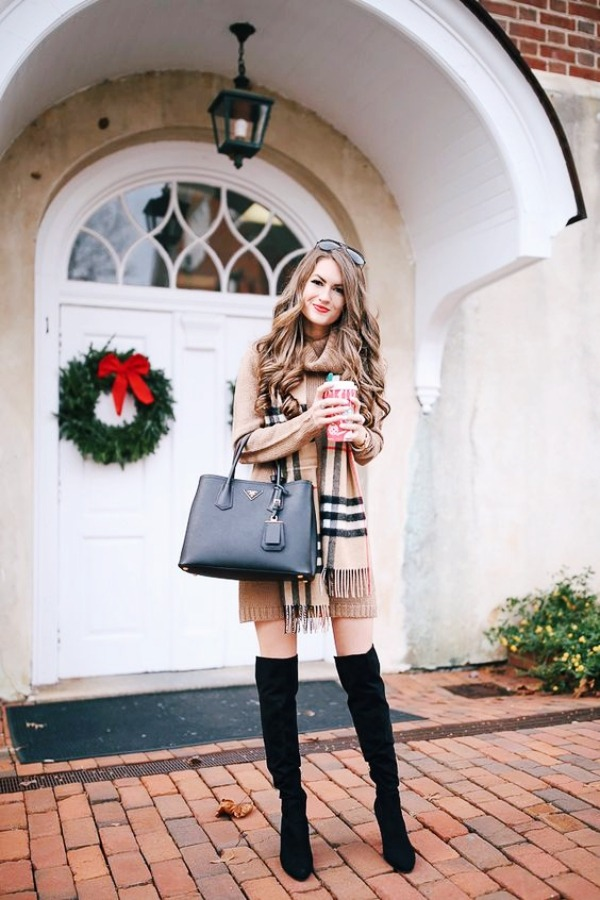 Latest-Knee-High-Boots-Outfit-Ideen