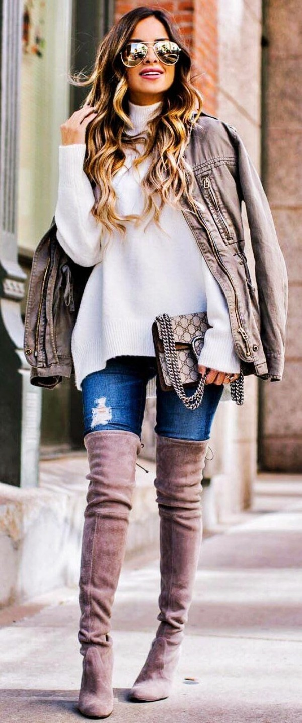 Latest-Kniestiefel-Outfit-Ideen