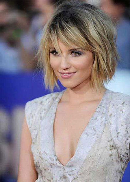 Kurzer Bob Layered Pony Choppy Dianna Agron 2017 20