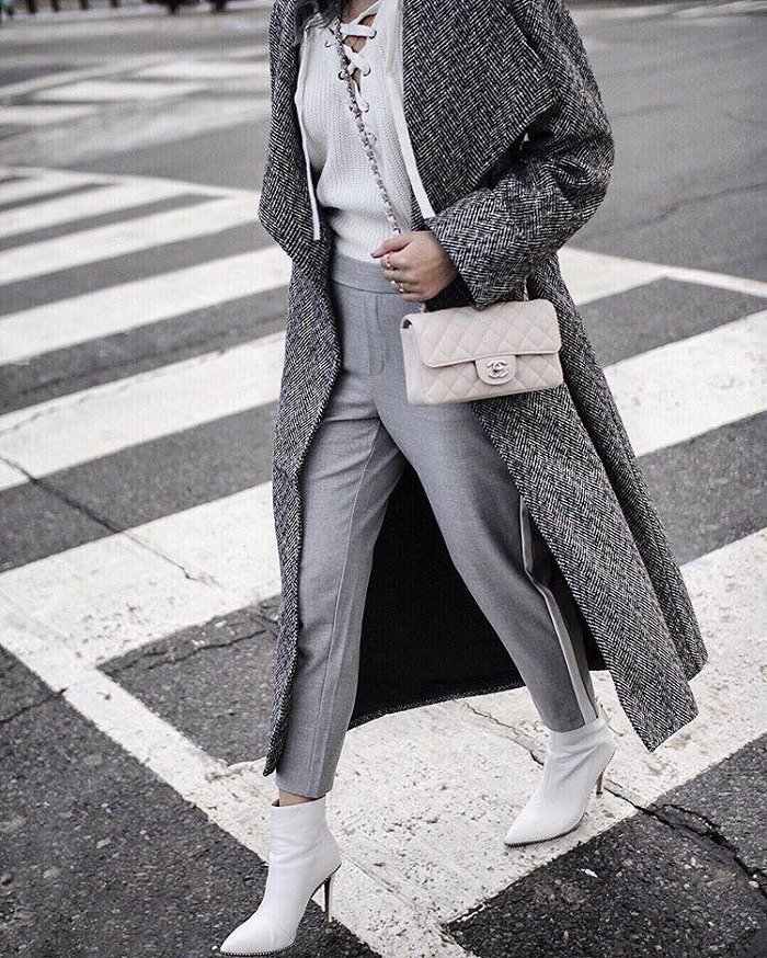 16 Chic Ways To Grey Dieser Winter grauer Mantel Pullover
