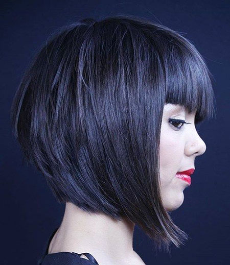 Layered Bob Hairtyles mit Fransen, Bob Bangs Layered Short