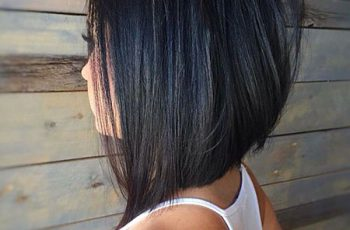 Long Absolvent Bob Hairtyle, Bob Length Layered Abgewinkelt