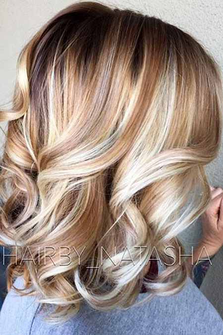 Haarfarbe Blond Medium