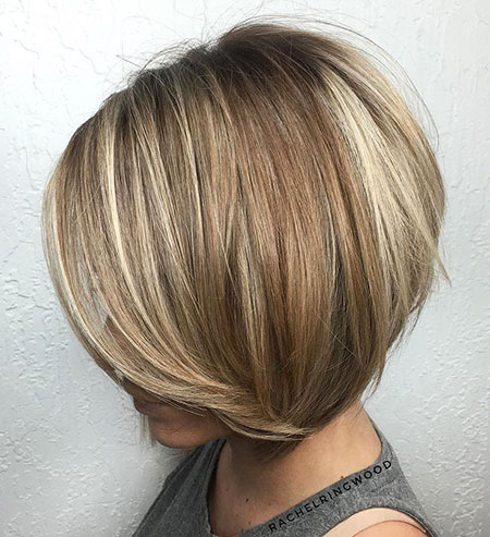 Bob Blonde Layered Highlights Balayage