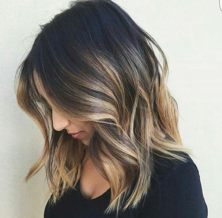 Balayage Länge Medium Blonde