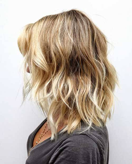 Braunes Haar mit blonden Highlights