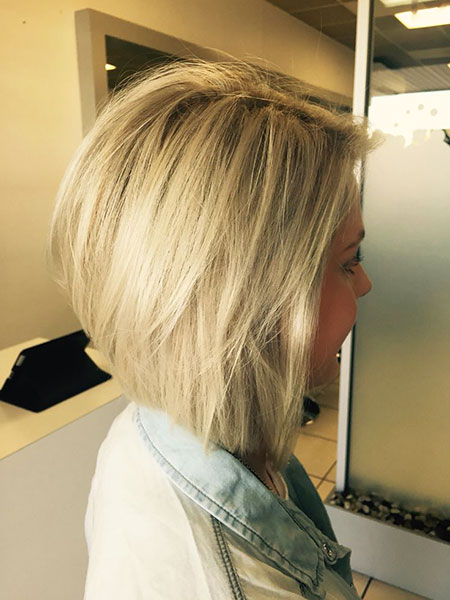 Bob Blonde Kurze Bobs Up Medium
