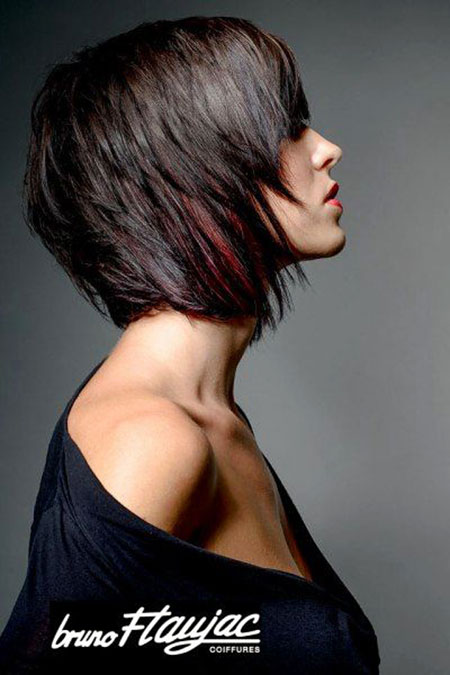 Moderne Textur Bob, Bob Hair Inverted Modern