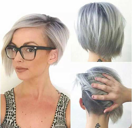 Short Under Bob Asymmetrische Pixie Grey