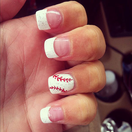 Nail Art Design Baseball, Jamberry Bester Softball Baseball