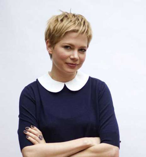 Michelle Williams schöne blonde Pixie Haar