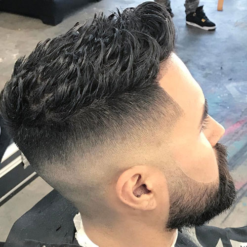 High Temp-Fade mit Spitzenhaar