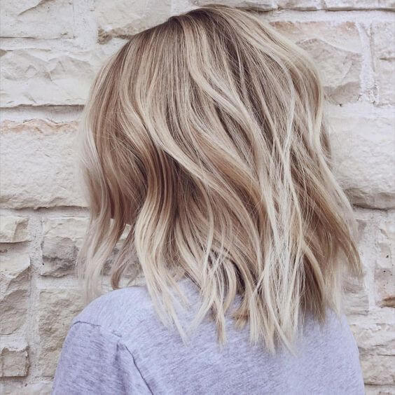 Piecy Warm Ash Blonde Lob