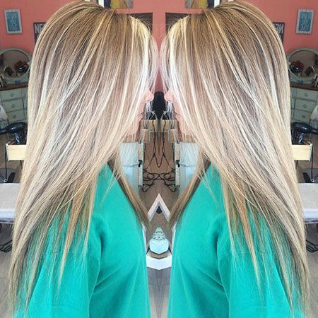 Blonde Highlights Hair Balayage