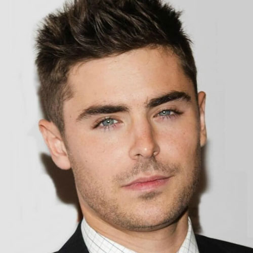 Zac Efron Hair - Hohes Taper Fade + Stacheliges Haar