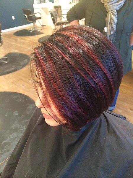 Rot Highlights Farbe Dunkel