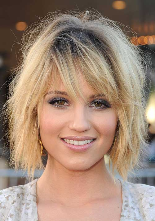 Choppy Medium Bob Frisuren mit Pony