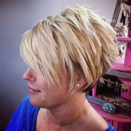 Kurze Bob Pixie Choppy Layered Blonde Frauen Teens