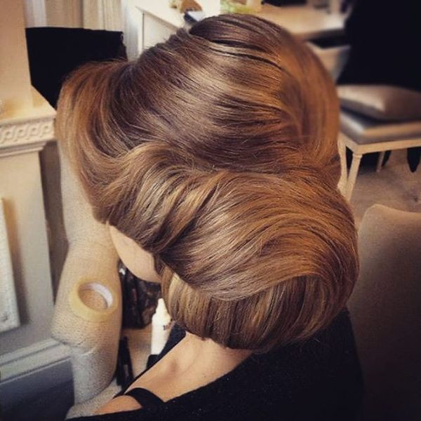 Elegantes Big Bun Hair-Up