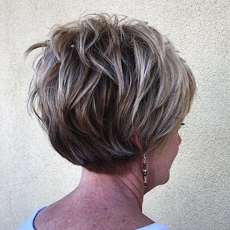 Short Layered Hairtyle, Bob Layered Blonde Frauen