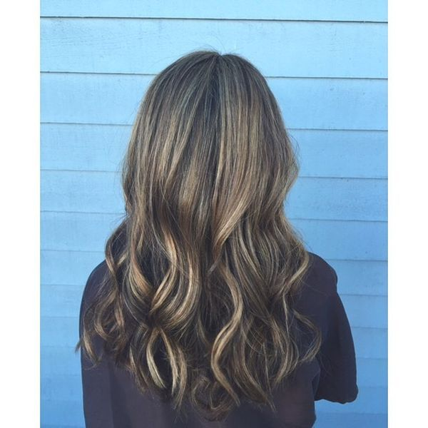 Brown zu Blonde Balayage Curls