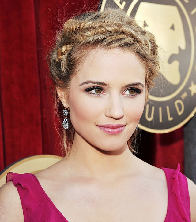 Dianna Agron Crown Braid über