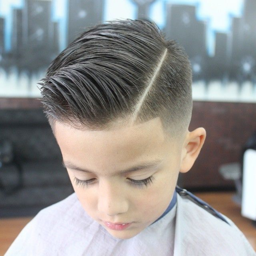 Side Hard Part Haircut