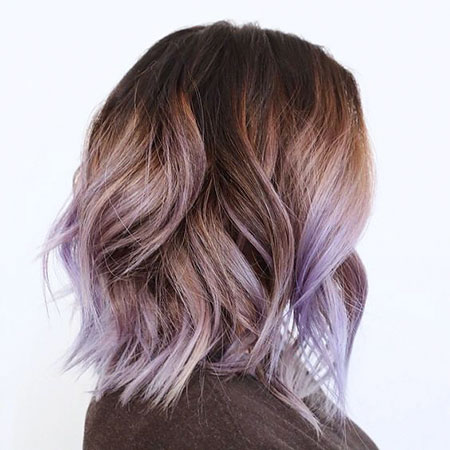 Lavendel Ombre Haar, Farbe Ombre Brown Balayage