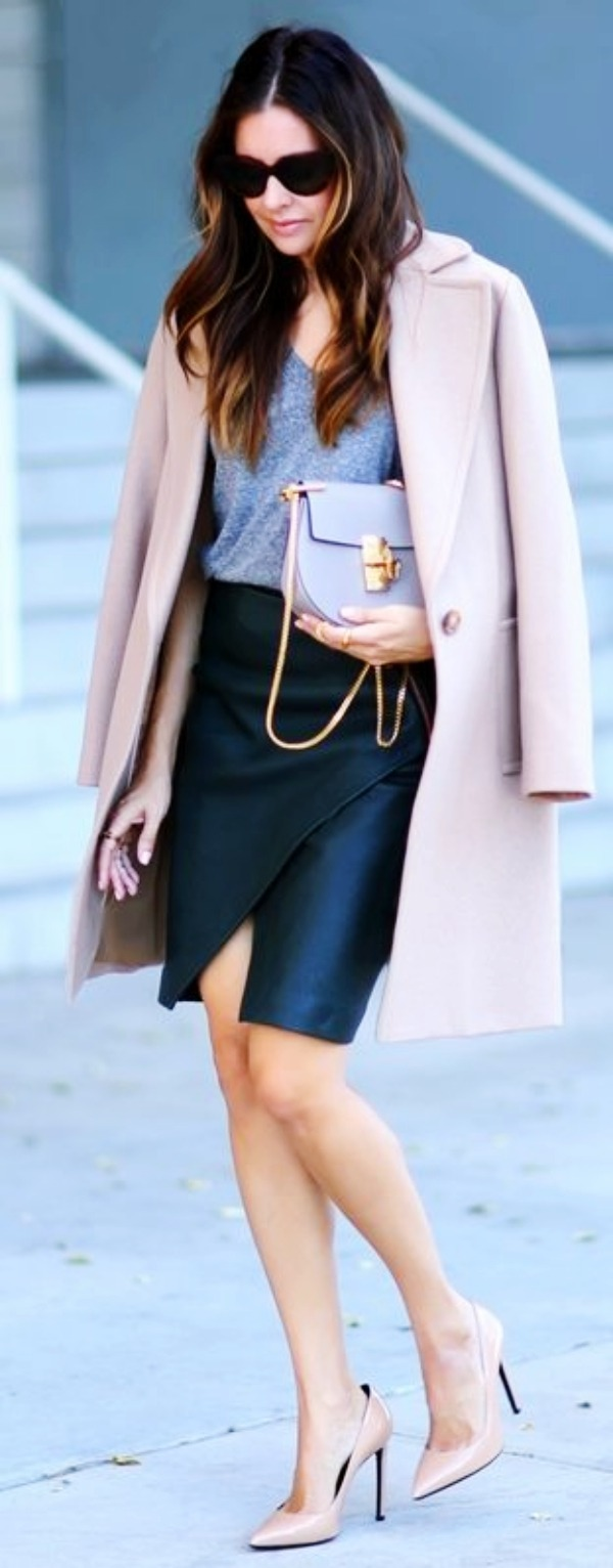 Uncommon-Jacket-with -Skirt-Outfits