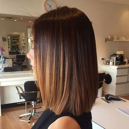 Schulter Ombre Länge Straight Balayage