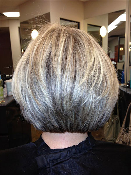 Bob Layered Blonde Bobs Gestapelte Shag Medium Schichten