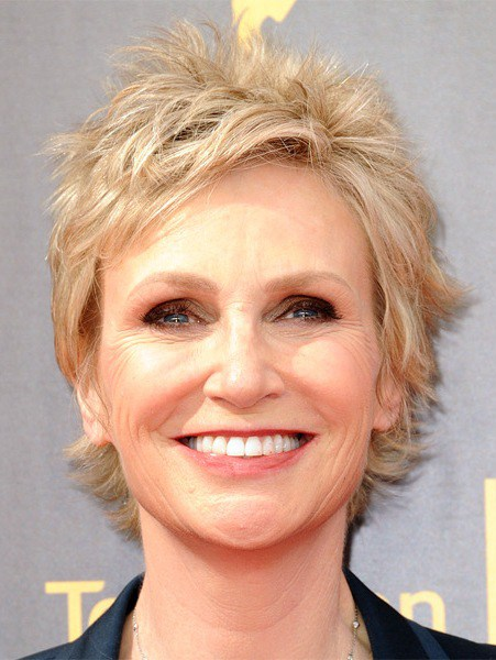 Jane Lynch kurze gerade Shag Frisur