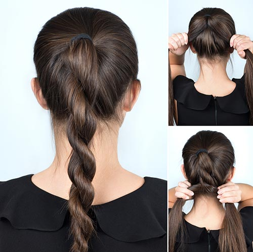16. Rope Twisted Ponytail