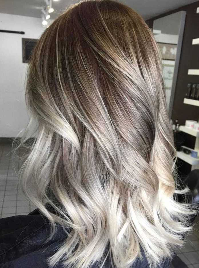 Platinblond Highlights