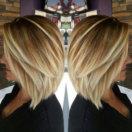 inverted bob blonde Balayage