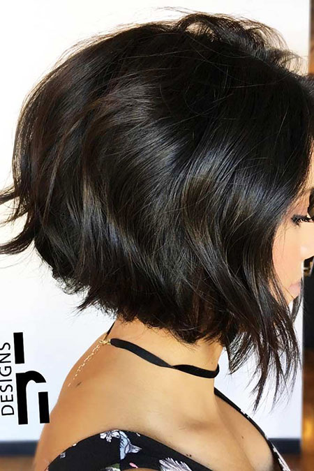 Bob Trendy Gestapelte Kurze Sassy Layers Geschichtete Choppy Brown Bobs 40