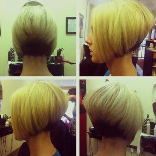 Cooler Stacked Layered Bob-Frisur