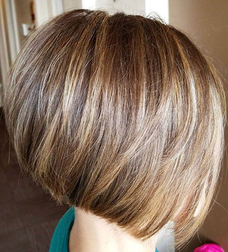 Braune Highlights, Bob Blonde Honigbraun