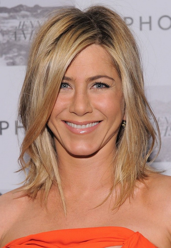 2014 Herbst-Winter 2015 Jennifer Aniston mittlere Frisuren
