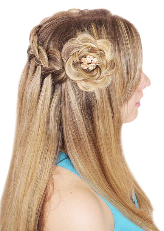Frisur von Waterfall-Braid