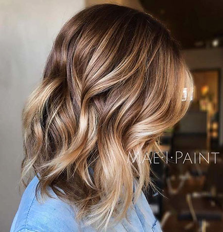 Brown Blonde Balayage Farbe