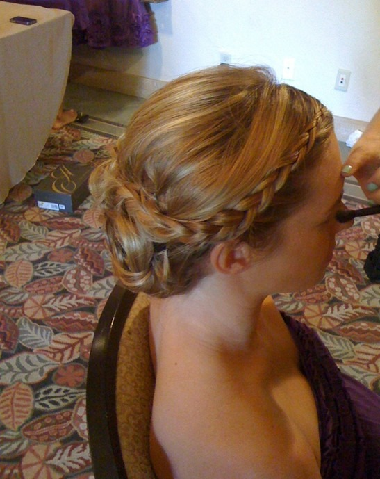 Delicate Braided Updo Hairstyles for Wedding