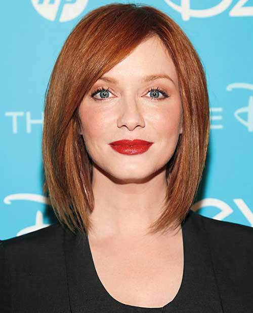 Christina Hendricks'Straight Red Bob