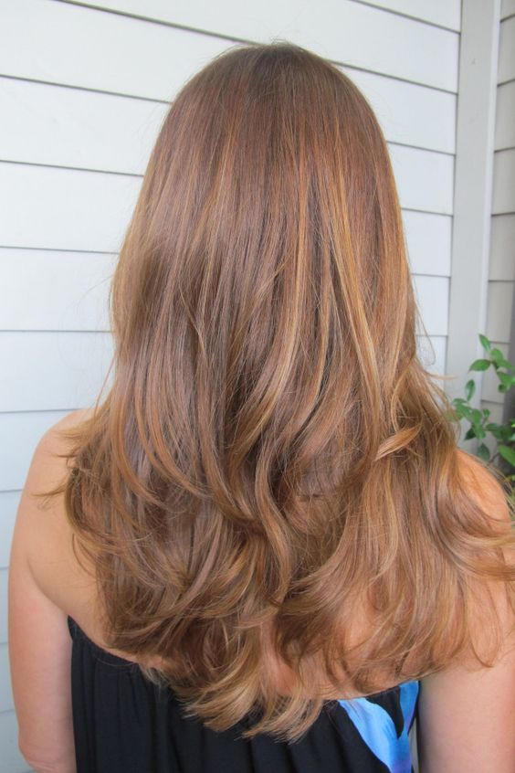 Caramel Honey Blondes Haar